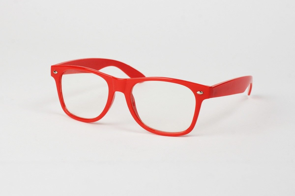 Wayfarer Clear Röd