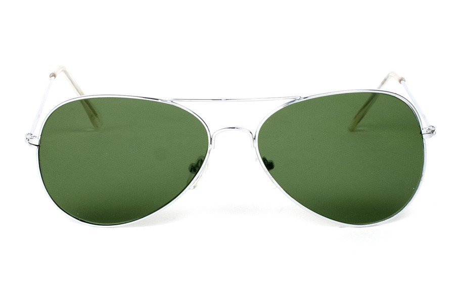 Aviator Silver-Grön