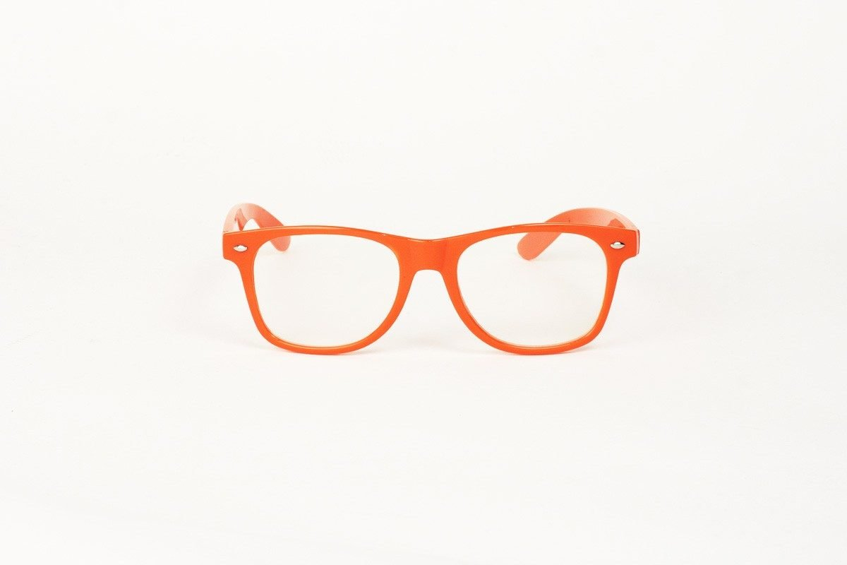 Wayfarer Clear Orange