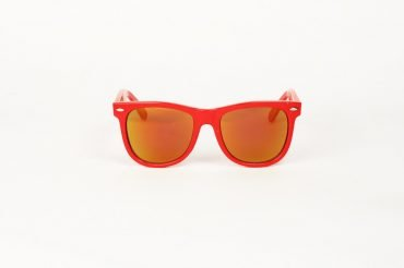 Wayfarer Large Revo Orange Röd