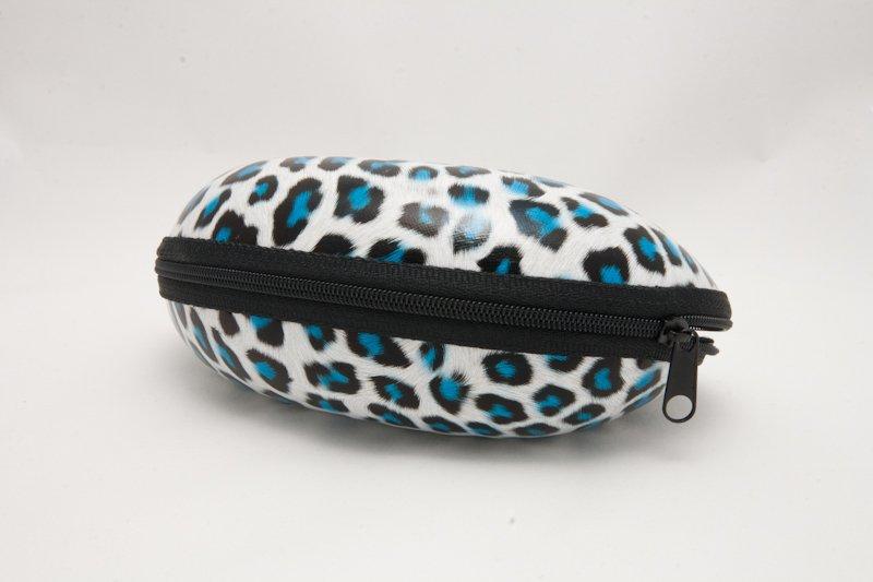 Semihårt fodral Leopard Blå