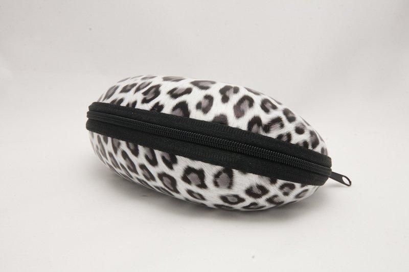 Semihårt fodral Leopard Grå