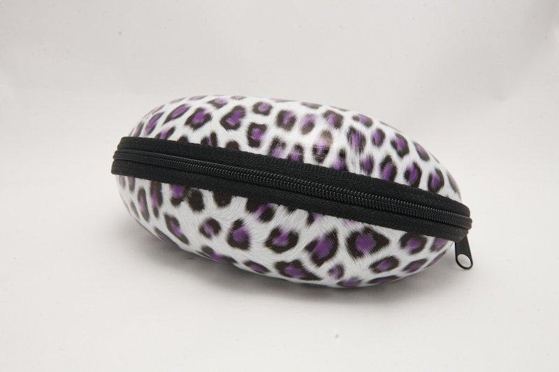 Semihårt fodral Leopard Lila