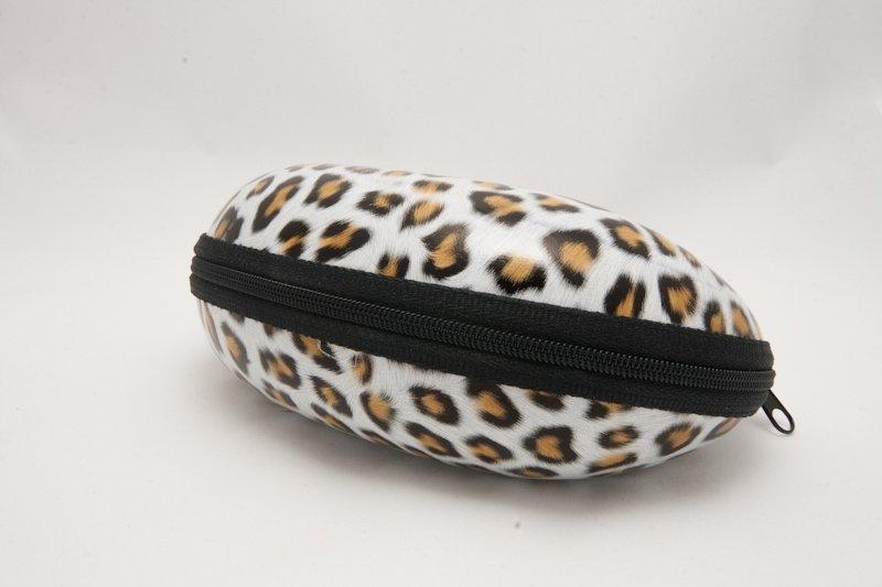 Semihårt fodral Leopard Gul
