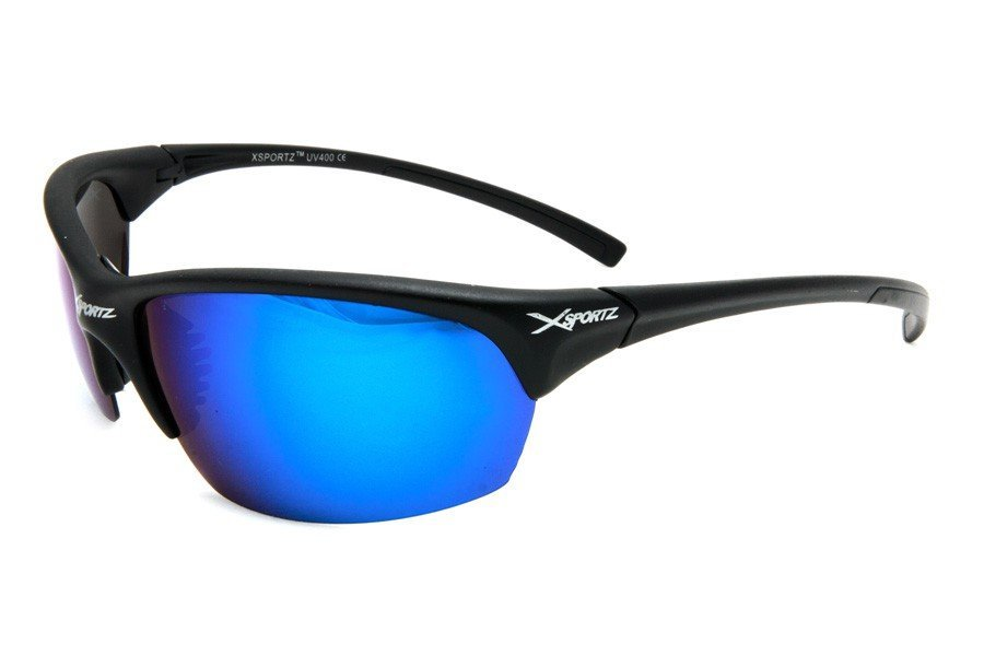 Xsportz Polarized Svarta med Blåa glas