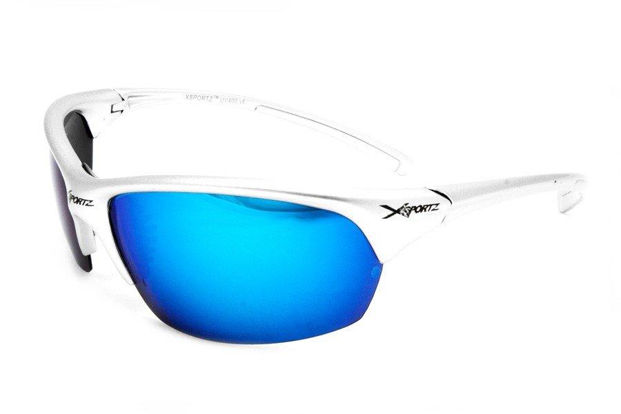 Xsportz Polarized Silver med Blåa Glas