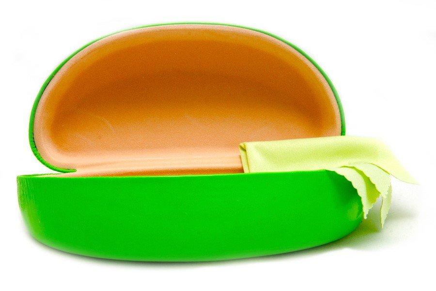 Hårt fodral med matchande putsduk Grön