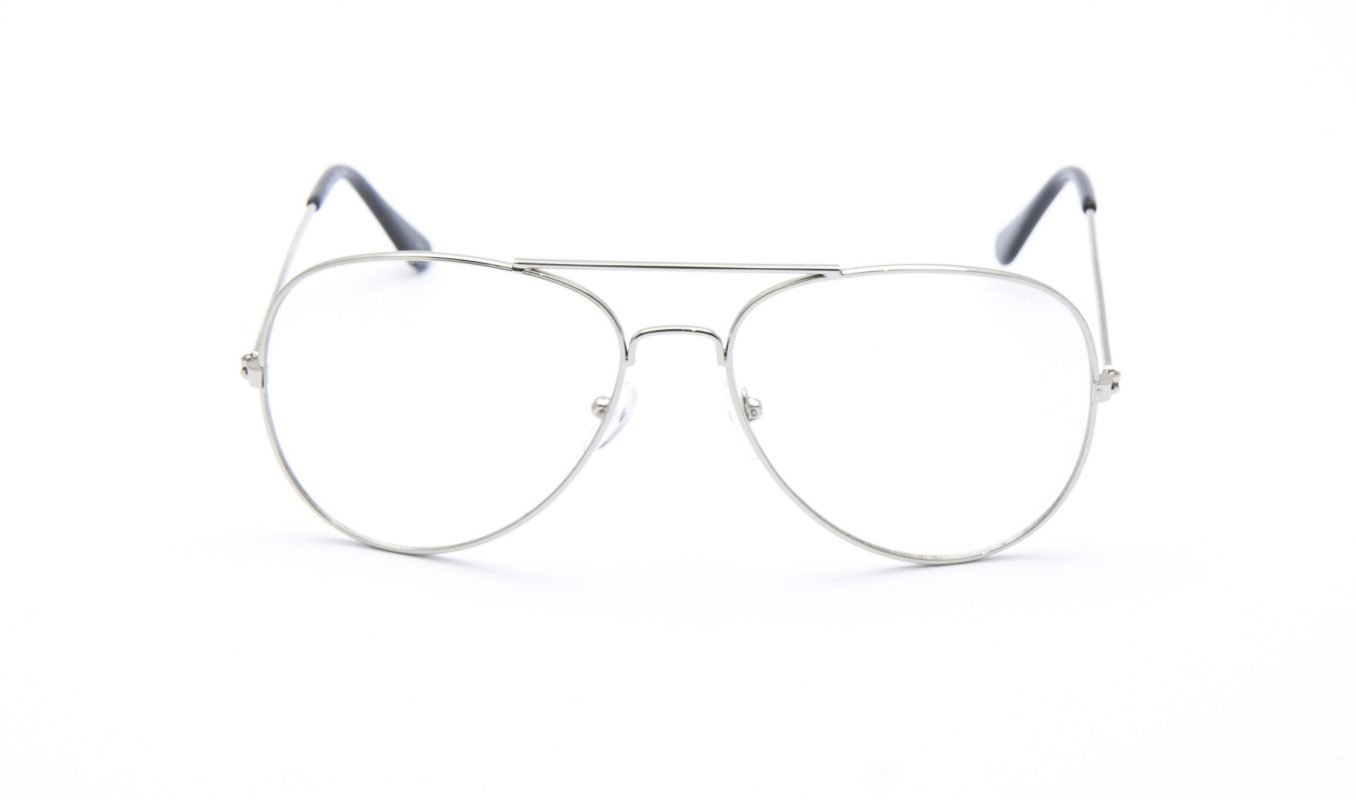 Aviator Clear Silver