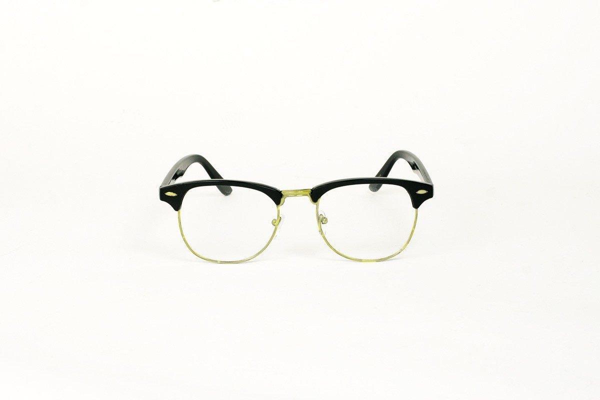 Wayfarer 60's Clear Svart-Guld